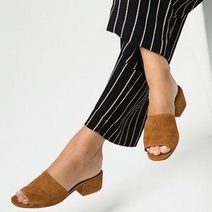 Vince Rachelle 2 Suede Block-Heel Mule Sandal 9